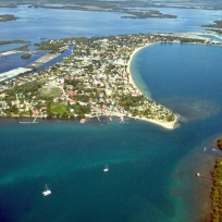 Placencia aerial view